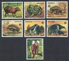 Paraguay Wwf Anteater Armadillo Wild Animals 7v 1985 Cto Sc#2139