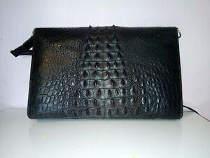 Vintage Genuine Crocodile Leather Handbag Black bag