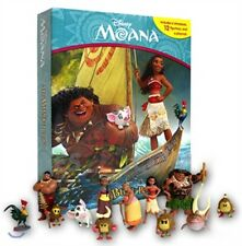 NEW Disney Moana My Busy Book + 12 Character Figurines & Playmat Play Book