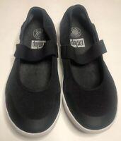 FitFlop Women's Uberknit Mary Jane Ballerina Slip On Shoes Black Size 7 EUC