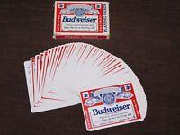 VINTAGE GENUINE BUDWEISER BEER  PLAYING CARDS