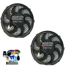 """67 68 69 Ford Fairlane Radiator Fans,2-12"""" 130W Electric Fans & Relay Kit"""