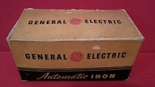 """Original Box for Vintage General Electric Automatic Iron Model 119F26 """"box only"""""""