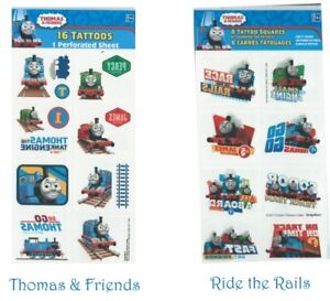 Thomas the Tank Tattoos Pack of 8 - Thomas the Tank Party Supplies