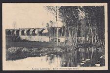VARESE SOMMA LOMBARDO 20 PONTE FERROVIA Torrente STRONA Cartolina viaggiata 1920