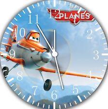 Disney Planes Dusty Borderless Wall Clock for Home Office Wall Decor B224