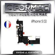 NAPPE DOCK CONNECTEUR DE CHARGE LIGHTNING ET JACK IPHONE 5s NOIR