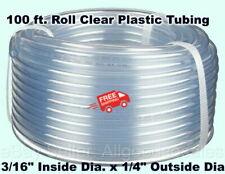 Clear Plastic Tubing 100 Roll 316 Inside Dia X 14 Outside Dia Flexible