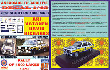 ANEXO DECAL 1/43 FORD ESCORT RS 1800 MK II ROTHMANS VATANEN 1000 LAKES 1979 (07)