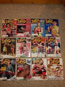 Vintage 1991 The Ring Full Year 12 Issues Boxing Magazine,Tyson,Foreman,Exc.