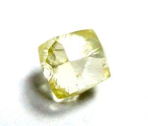 0.63 Carati Decorato Giallo Canarino Cuttable Dodecahedron Naturale Grezzo