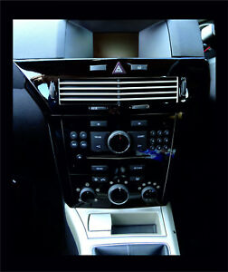 Black Gloss vinyl centre dash + air vent trim to fit OPEL ASTRA H Mk5 2004–2010
