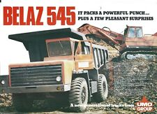 Equipment Brochure - Belaz - 545 - Dump Truck - Umo Plant - Mining (E5026)