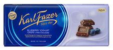 Fazer Finnish Milk Chocolate with Blueberry Yoghurt Crisps 200g 7oz