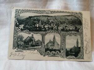 Historische Postkarte Bammenthal ( BAHNPOST - STEMPEL )
