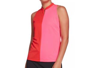 Slazenger Golf Polo Womens 2XL Authentic Bold ColorBlock Sleeveless Hot Red