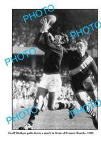 OLD 6 x 4 PHOTO ESSENDON FC GREAT GEOFF BLETHYN c1969