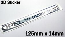 Opel motorsport 3d Aufkleber Logo Sticker