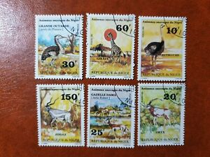 Niger  - 1981 - animal sauvages du niger  - 6 stamps  - used