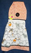 **NEW** Handmade Halloween Dogs in Costumes Hanging Kitchen Hand Towel #1823