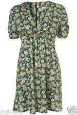 Kate Moss Iconic Floral Pansy Print Mini Tea Dress Vtg Topshop Debut 10 38 US6 S