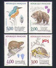 France 1991 Animals/Birds/Nature/Bear/Tortoise/Kingfisher 4v set (n32570)