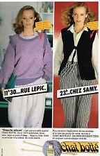 Publicité Advertising 1980 La Laine Chat Botté
