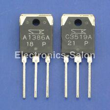 5pcs 2SA1386A & 5pcs 2SC3519A Original SANKEN Audio High Power Transistor.