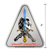 "Powell Peralta Skull and Sword Skateboard Sticker Decal 4"" Bones Brigade"