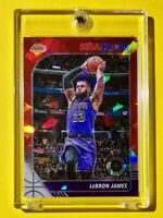 Lebron James RED CRACKED ICE PRIZM PREMIUM STOCK 2019-20 NBA HOOPS RARE - Mint!