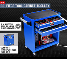 881 Piece Mechanic Trolley Wheels Tool Cabinet Tool Set Box Cordless Screwdriver