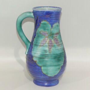 Clarice Cliff Newport Pottery Art Deco tall jug Matte Blues like Inspiration