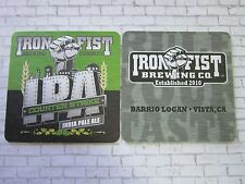 Beer Coaster ~ IRON FIST Brewing Coutnter Strike IPA ~ Barrio Logan, Vista, CALI