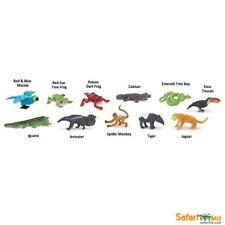 11 Foresta Pluviale Animali Toob Set Of 11 Figurine Gioco/Decorazioni Torta