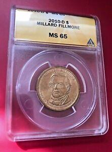 2010 D MILLARD FILLMORE ANACS MS 65