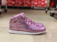 Nike Air Jordan 1 Retro Mid SE Womens Shoe Pink/White AV5174 640 NEW Sz 8.5