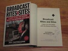 RED SOX HOFer JOE CASTIGLIONE signed BROADCAST RITES & SITES Hard Cover Book COA