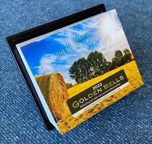 Golden Bells Calendar 2022 Daily Bible Text Comment Block Hanging or Desk