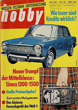 hobby 8/63 1963 Ford Mustang Studebaker Avanti Simca 1300 1500 Antarktis Tanklag