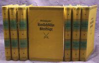 Schmidt Kursächsische Streifzüge 7 Bde um 1925 Sachsen Geschichte Militaria sf