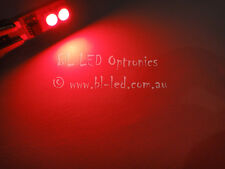 2x T10 W5W Power SMD LED Flank Number Plate Bulbs Red