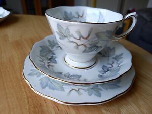 """ROYAL ALBER  TRIO   """" CUP, SAUCER, & SIDE PLATE   """" SILVER MAPLE  """" DISCONTINUED"""