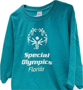 Gildan SPECIAL OLYMPICS - Florida Games NEW Teal Blue T-Shirt 3XL 100% Cotton