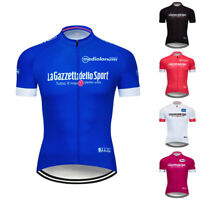 Men Team Cycling Short Sleeve Jersey 2020 Racing Bike Tops Outdoor Bicycle Shirt