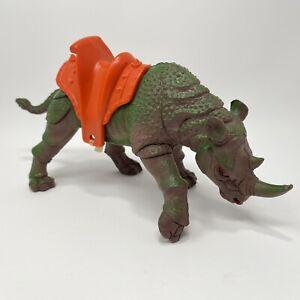 """1984 Imperial Dragons Knights Daggers 10"""" Rhino Rhinoceros Avenger Saddle MOTU"""