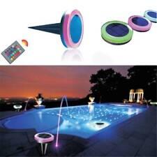 Solar RGB Underwater Lamp LED Garden Pond Swimming Pool Floating Light Fountain