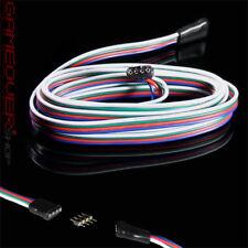 🔴 4m Meter LED SMD RGB Verlängerung Anschluss Kabel Stecker Buchse Strip Leiste