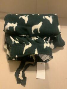 Goodfellow brand  MICRO- Fleece PJ/ Lounge Pants Green w/ White Wolf Small size