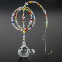 H&D Rainbow Suncatcher Crystals Ball Prisms With Octagonal bead Home Decor 13""