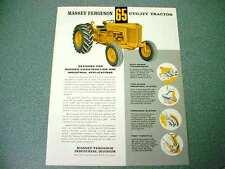 Massey Ferguson 65 Yellow Industrial Tractor Literature